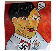 Hitler Cartoon Evilness Poster