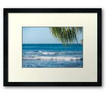 Beach in the afternoon. Framed Print