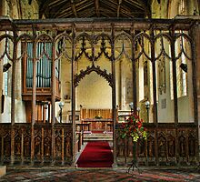 St Mary The Virgin, Tunstead - Rood Screen by Dave Godden