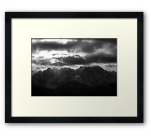 Remembers - Tatra Mountains . by Brown Sugar . Merry Christmas and Happy New Year 2013 ! Framed Print