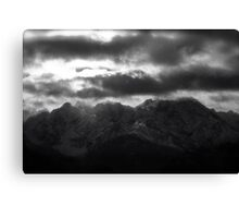 Remembers - Tatra Mountains . by Brown Sugar . Merry Christmas and Happy New Year 2013 ! Canvas Print