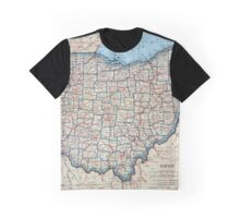 Vintage Map of Ohio (1921) Graphic T-Shirt