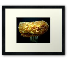 cheese roll on fork... Framed Print