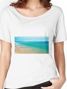 View from Tangalooma Island beach. Women's Relaxed Fit T-Shirt
