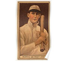 Benjamin K Edwards Collection Ralph Works Detroit Tigers baseball card portrait Poster