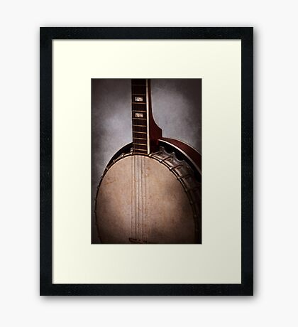 Instrument - String - A typical banjo  Framed Print