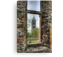 In the square window Canvas Print