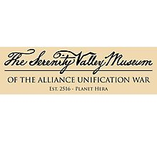 The Serenity Valley Museum Photographic Print