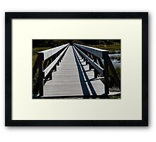 Rails And Shadows Framed Print