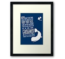 Panicking Framed Print