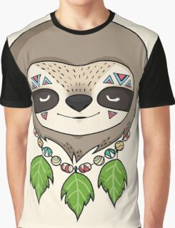 Sloth Head Graphic T-Shirt