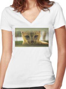 Community Cat Women's Fitted V-Neck T-Shirt