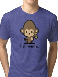 Farm Babies - Eat healthy. Tri-blend T-Shirt