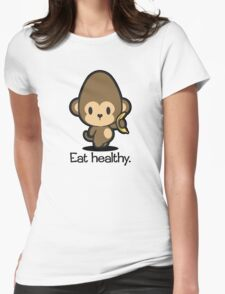 Farm Babies - Eat healthy. Womens Fitted T-Shirt
