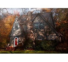 Cottage -  Cranford, NJ - Autumn Cottage  Photographic Print