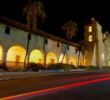 Santa Barbara Old Mission. Christmas 2011 by Eyal Nahmias