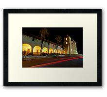 Santa Barbara Old Mission. Christmas 2011 Framed Print