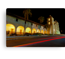 Santa Barbara Old Mission. Christmas 2011 Canvas Print