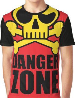 Danger Zone - Skull and Crossbones Graphic T-Shirt