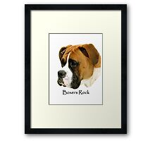 Boxers Rock (My Buddy) Framed Print