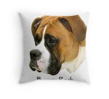 Boxers Rock (My Buddy) Throw Pillow