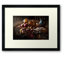 Chef - Food - A tribute to Rembrandt - Apples and Rolls  Framed Print
