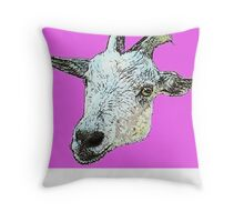 Misty the Pygmy Goat Throw Pillow