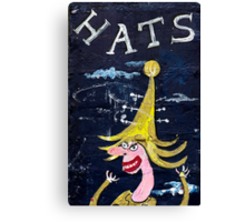 Hats on the Wall Canvas Print