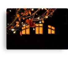 Through the Stained Glass Canvas Print
