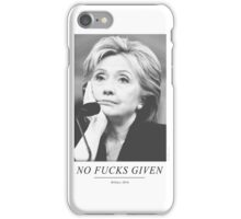 No Fucks Given iPhone Case/Skin