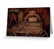 Pharmacy - The Rheumatic Cure wagon  Greeting Card
