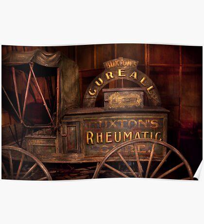 Pharmacy - The Rheumatic Cure wagon  Poster