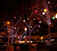 Delaware and Fourth at Christmas by Lourdes Juarez