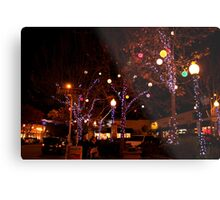 Delaware and Fourth at Christmas Metal Print