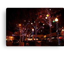 Delaware and Fourth at Christmas Canvas Print