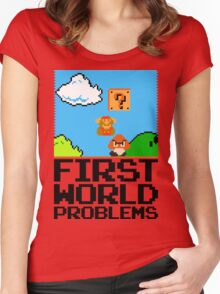 First World Problems (Black) Women's Fitted Scoop T-Shirt