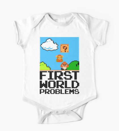First World Problems (Black) Kids Clothes