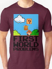 First World Problems (Black) Unisex T-Shirt