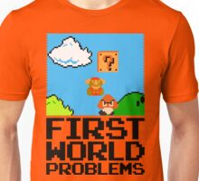 First World Problems (Black) Unisex T-Shirt