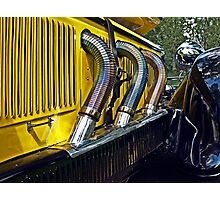 Detail of a 1928 Mercedes Photographic Print