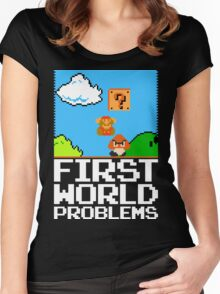 First World Problems (White) Women's Fitted Scoop T-Shirt