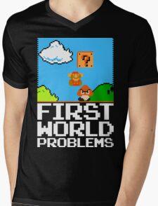 First World Problems (White) Mens V-Neck T-Shirt