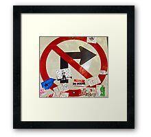 No Tea Turns Framed Print