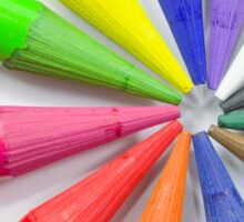 Woodless Colored Pencil Heads Macro Closeup Sticker