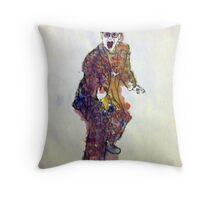 Elton John Watercolor Throw Pillow