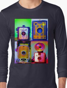 Camera Collage Long Sleeve T-Shirt