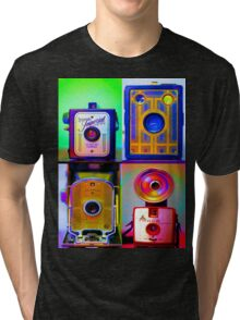 Camera Collage Tri-blend T-Shirt