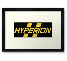 Hyperion Yellow Framed Print