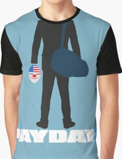 Payday 2-Dallas-White Graphic T-Shirt