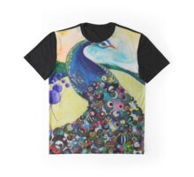 Peacock Blue Graphic T-Shirt